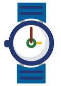 Vector de reloj colorido — Vector de stock