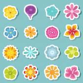 Flower icon set vector — Stock Vector