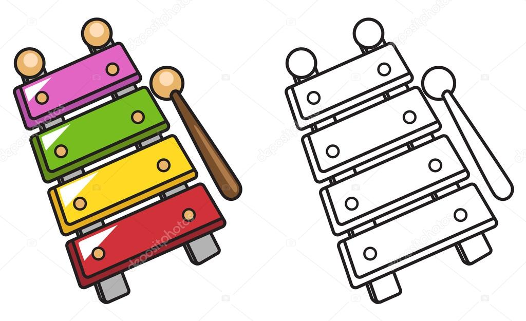 Xylophones  Coloring Pages Musical Instruments