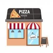 Pizza restaurant vector — Stock Vector