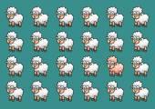 Wallpaper sheep background — Vettoriale Stock