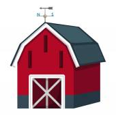 Barn house vector — Stock Vector