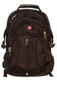 Black backpack for study,sports, travel bag, backpack, luggage on a white background — Stockfoto
