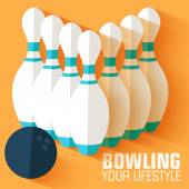 Sport bowling background — Stock Vector