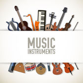 Flat music instruments — Stock Vector
