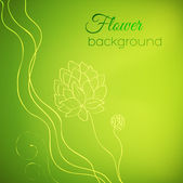 Karta z piękny kwiat — Wektor stockowy