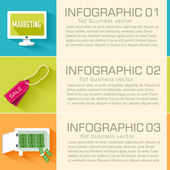 Business infographic template — Stock Vector