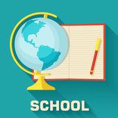 School concept globe — Stock Vector
