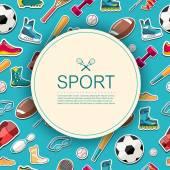 Sports equipment background. — Wektor stockowy