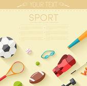 スポーツの背景 — ストックベクタ
