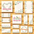 Colorful greeting wedding invitation cards — Vector de stock  #57670573