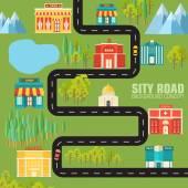 都市への道 — ストックベクタ