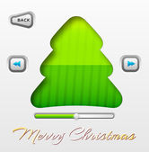 Merry christmas interface — Stock Vector