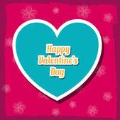 Floral Happy Valentine's Day — Vetor de Stock