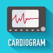 Medicine cardiogram background. — Stock Vector