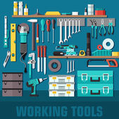 Working  tools set — Stock Vector