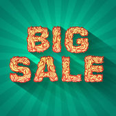 Vintage text big sale — Stock Vector