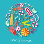 Summer  vacation background — Stock Vector