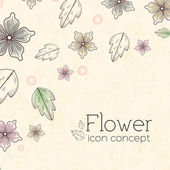Flower icon concept — Vector de stock