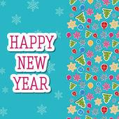 Szczęśliwego nowego roku tło — Wektor stockowy