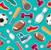 Sports equipment  pattern — Stockvektor