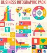 Business flat infographic elements set — Stock Vector