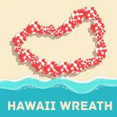 Flat hawaii wreath — Stock Vector