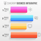 Business abstract 3D digital Infographic — Stockvektor