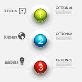 Business infographic interface design — Stock Vector