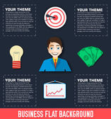 Business flat infographic. — Stock Vector