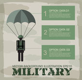 Paratrooper military infographics — Vector de stock