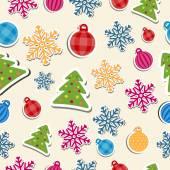 Patrón de colores navidad — Vector de stock