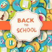 Back to school  backgroun — Vecteur