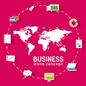 World business infographic — Stock Vector