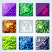 Colorful polygonal backgrounds — Stock Vector