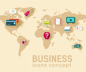 World business infographic template — Stock Vector