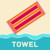 Retro flat towel — Stock Vector