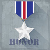 Grunge military honor medal — Stock Vector