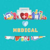 Medical equipment background. — Stock Vector
