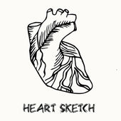 Human heart sketch — Stock Vector