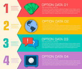 деловой плоский инфографический шаблон — Cтоковый вектор