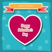 Floral Happy Valentine's Day — Stock vektor