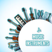 Music instruments background — Vettoriale Stock