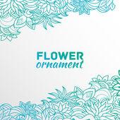 Beautiful flower ornament — Stock Vector