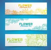 Flower banners concept — Vector de stock