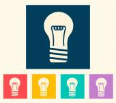 Vintage light bulb icon — Stockvector