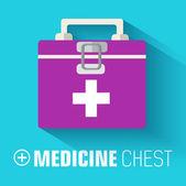 Flat medicine chest — ストックベクタ