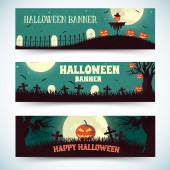 Halloween time banners — Stock Vector