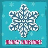 Tarjeta de navidad con copo de nieve — Vector de stock