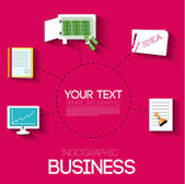 Business flat infographic template — Stock Vector